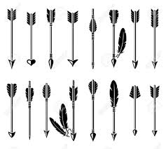 unique hd arrow silhouette feather pictures design vector images