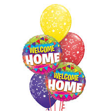 welcome home balloon bouquet classic balloon bouquet welcome home balloon bouquets plus