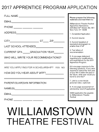 How To Make A Theatre Resume Actors Williamstown Theatre Festival