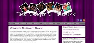 the singer u0027s theatre quirki website design affordable web
