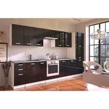 meuble haut cuisine noir laqué meuble haut de cuisine design 60 cm avec 1 porte coloris blanc mat