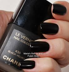 marias nail art and polish blog chanel black velvet 430 orient