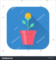 Pot Flag Gold Coin Flower Pot Creative Making Stock Vector 666533995