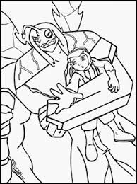 yellow coloring pages ben 10 coloring pages