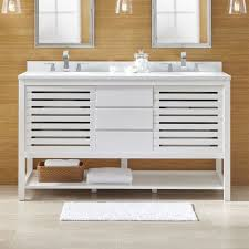 Bathroom Countertops And Sinks Banya White Bathroom Vanities And Sinks Crate And Barrel