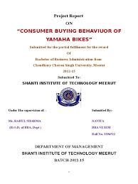 consumer buying behaviuor of yamaha bike 2 doc automotive