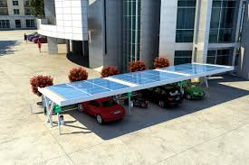 Metal Carport Metal Carport Commercial With Integrated Photovoltaic Panel