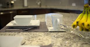 Kitchen Table Close Up Kitchen Island Place Setting Move Away Close Up Camera Moves Back