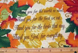 quarter thanksgiving fabric thanksgiving prayer 3431 fall