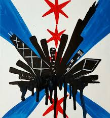 Chicaho Flag Byob Taco Tuesday Graffiti Drip Chicago Flag 40 U2013 Surreal Rabbit