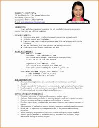 Easy Resume Writing Cerescoffee Co International Standards Resume Format Unique Nurses Cv Format