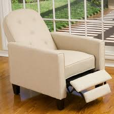 jamestown beige tufted fabric recliner walmart com