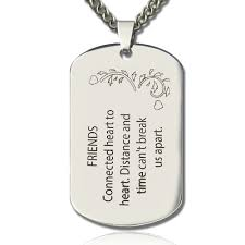 best name necklace titanium steel best friends dog tag necklace with name or words