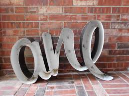 metal letters home decor designs ideas
