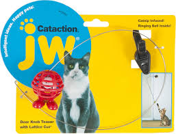 jw pet cataction door knob teaser with lattice cuz cat toy chewy com