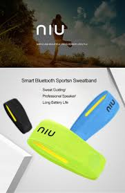 niu smart headband sweatband bluetooth 4 1v built in microphone