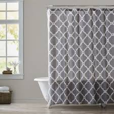 Gray And Brown Shower Curtain - gray u0026 silver shower curtains you u0027ll love wayfair