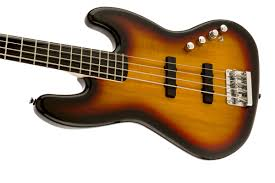 squier deluxe jazz bass iv active 4 string ebonol fingerboard