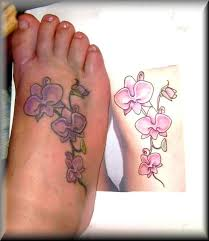 orchid tattoo designs on foot google search etched in skin