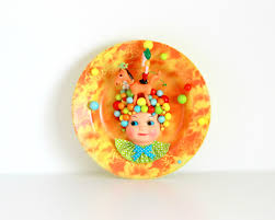 wall plate fun housewarming gift colorful décor collectible