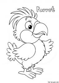 print parrot coloring pages printable coloring pages kids