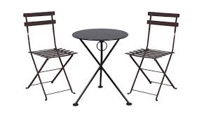 Folding Bistro Table And 2 Chairs Café Bistro Dining Set 3 Pieces 3 Leg Folding Bistro