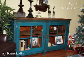 Small Media Cabinet Furniture Ana White Using Vaseline To Distress Aged Aqua Cabinet Diy