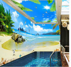 3d wallpaper murals picture more detailed picture about photo photo wall mural wall decoration maldives seaview coconut tree space 3d wallpaper mural