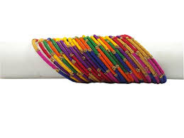 multi metal bracelet images Yaalz flower metal bangles set multi color jpg