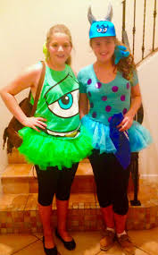 elisabeth easy diy mike and sulley costumes