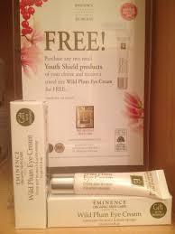 the gift of eminence wild plum eye cream aqua spa blog