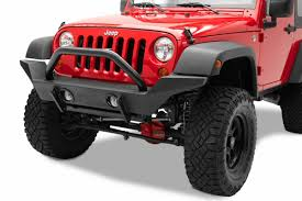 jeep matte red bestop highrock 4x4 high access front bumper w light mounts for 07
