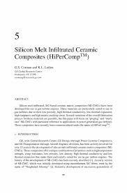 silicon melt infiltrated ceramic composites hipercomp springer