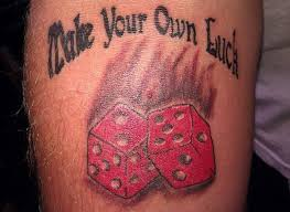 25 awesome dice tattoos
