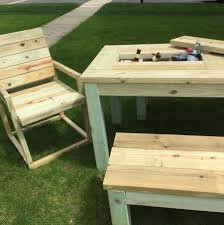 repurposed by rob patio picnic table drink coolers noveltystreet