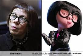Edna Meme - linda hunt totally looks like edna mode from the incredibles