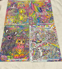 halloween books for adults amazon com color me lisa frank coloring book set of 4 2016