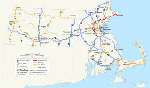 Boston Map Usa by Massachusetts Route 128 Wikipedia
