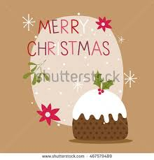coloring book page christmas pudding ball stock vector 517603153
