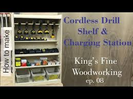 build a charging station how to build a cordless drill shelf and charging station king u0027s