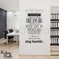 work hard office wall decal wall decals pinterest office