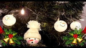 ping pong snowman diy recycled decoration how