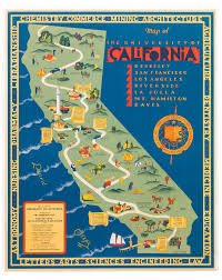 La Jolla Map 1939 Pictorial Map Of The University Of California System