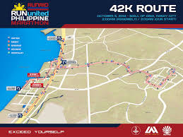 United Route Map Incoming Run United Philippine Marathon Franc Ramon