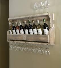 wine glass wall mounted shelf