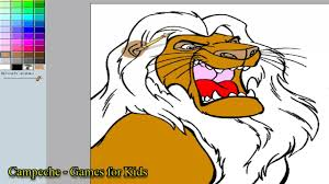 lion king online coloring pages simba 110 youtube