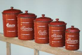 Retro Kitchen Sets by Canisters For The Kitchen French Country Kitchen Set French