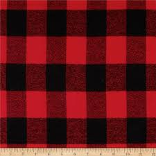 kaufman mammoth flannel buffalo plaid red discount designer