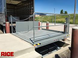 Loading Dock Air Curtain Hydraulic Dock Lifts U2014 Rice Equipment Co Loading Dock U0026 Door Service
