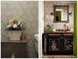 Bathroom Wall Stencil Ideas Pretty U0026 Easy Stencil Ideas For 6 Dreamy Diy Bathroom Makeover